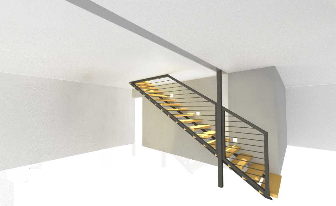 color model straight stair with lights complied copy copy