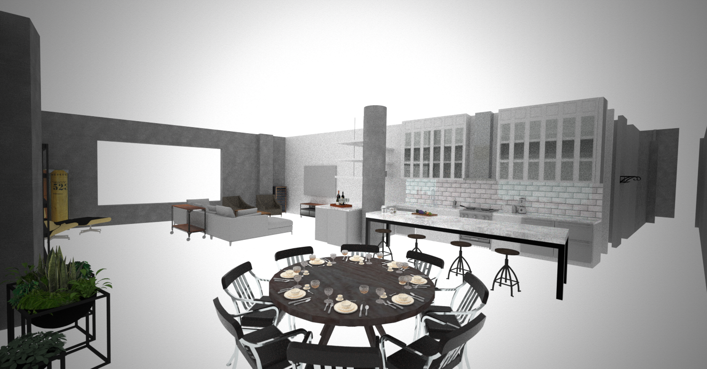 material test 2_DINING TO KITCHEN Perspective