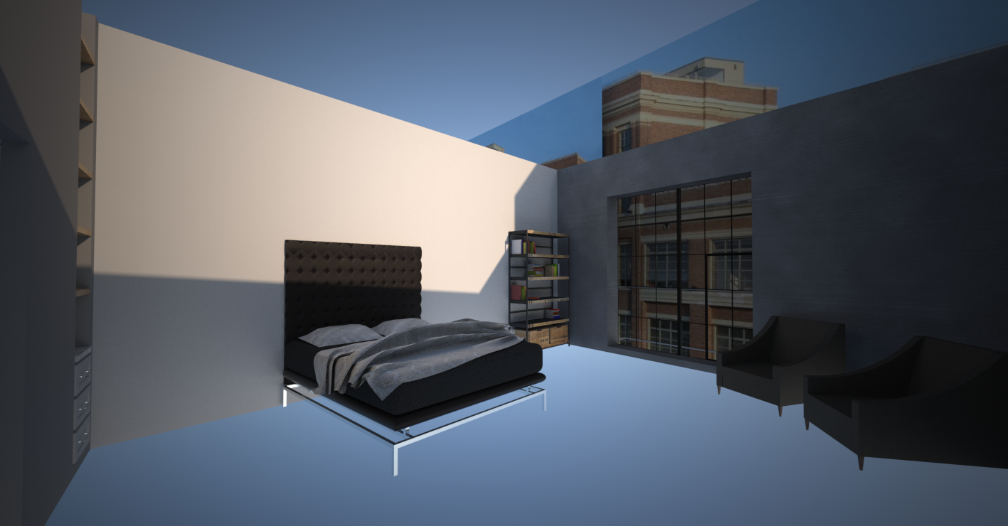 material test 3_BEDROOM TO BALCONY Perspective